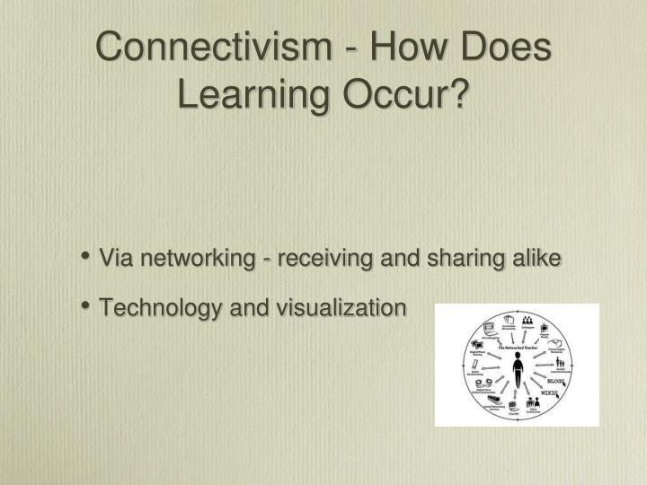 Connectivism - How Does Learning Occur?