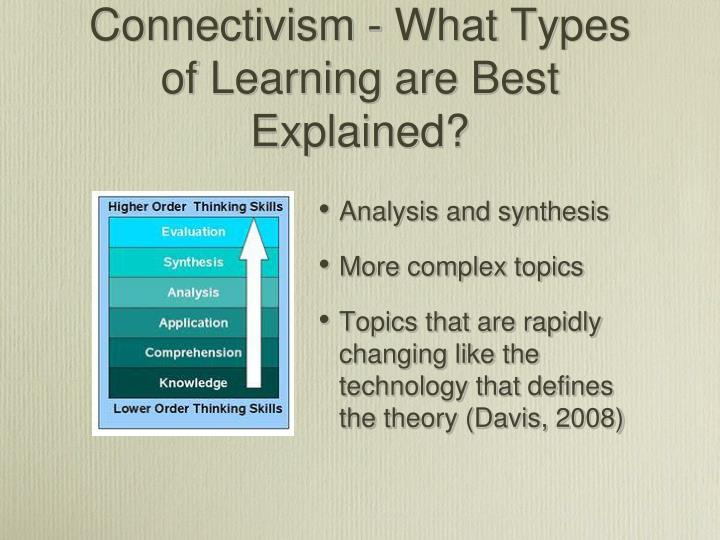 Connectivism - What Types of Learning are Best Explained?