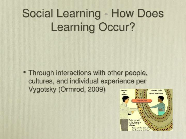 Social Learning - How Does Learning Occur?