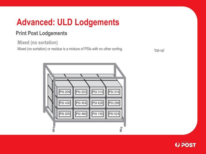 Advanced: ULD Lodgements