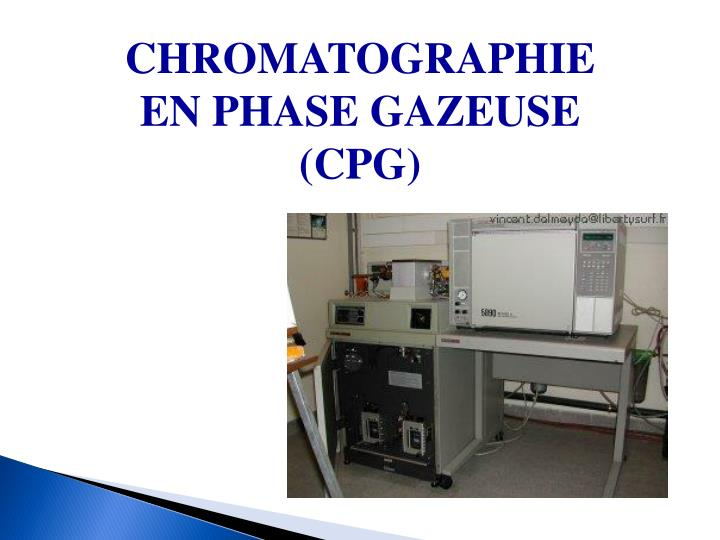 Ppt Chromatographie En Phase Gazeuse Cpg Powerpoint