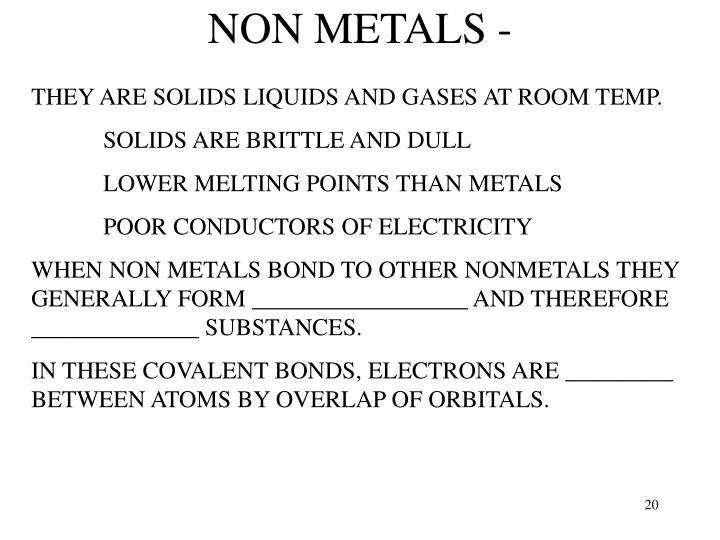 NON METALS -