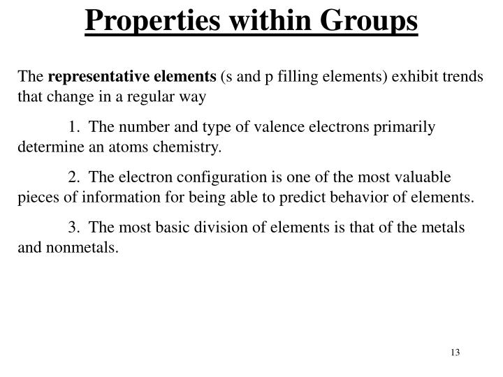 Properties within Groups