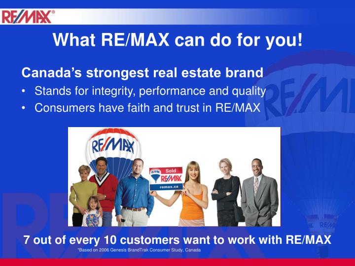 What re max can do for you