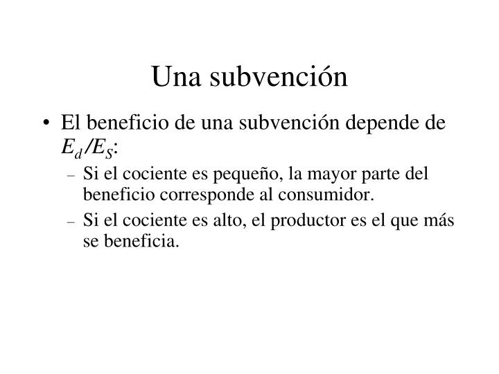 Una subvención