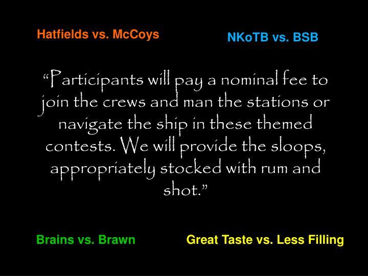Hatfields vs. McCoys