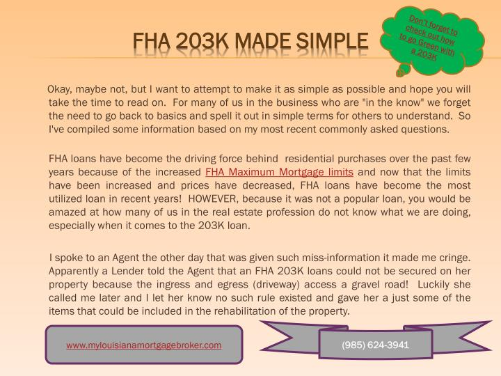 "Okay, maybe not, but I want to attempt to make it as simple as possible and hope you will take the time to read on.  For many of us in the business who are ""in the know"" we forget the need to go back to basics and spell it out in simple terms for others to understand.  So I've compiled some information based on my most recent commonly asked questions."