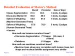 detailed evaluation of marcu s method