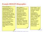 example biogen biographies