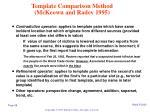 template comparison method mckeown and radev 1995
