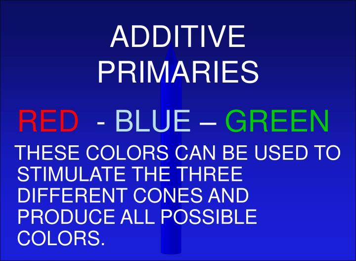 ADDITIVE PRIMARIES