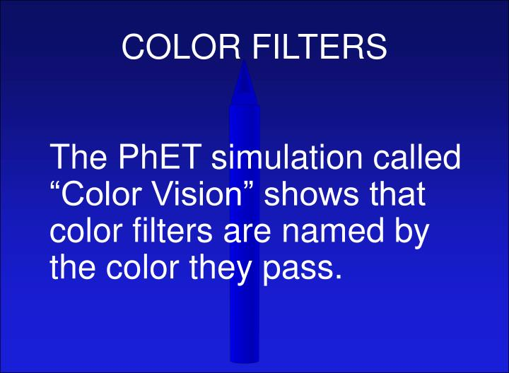 COLOR FILTERS