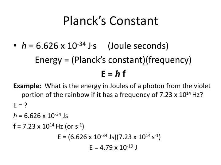 Planck's Constant