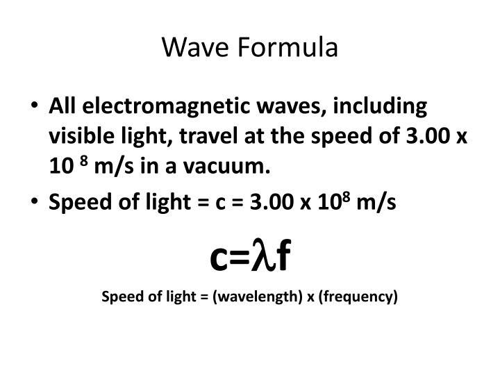 Wave Formula