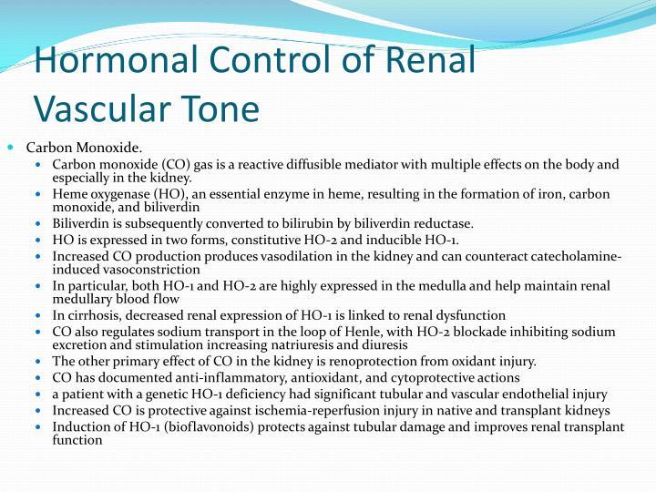 Hormonal Control of Renal Vascular Tone