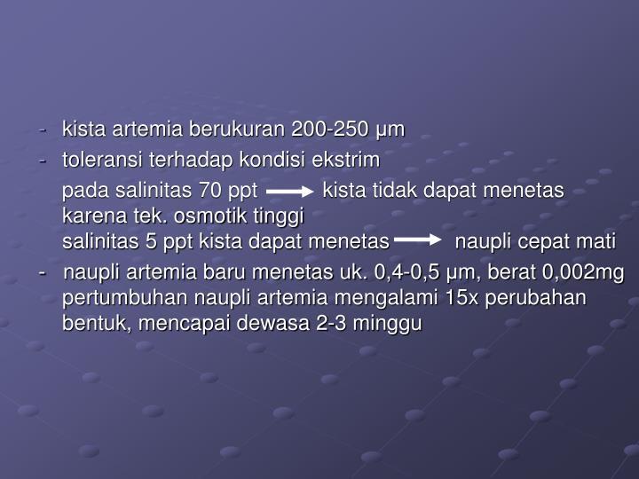 kista artemia berukuran 200-250