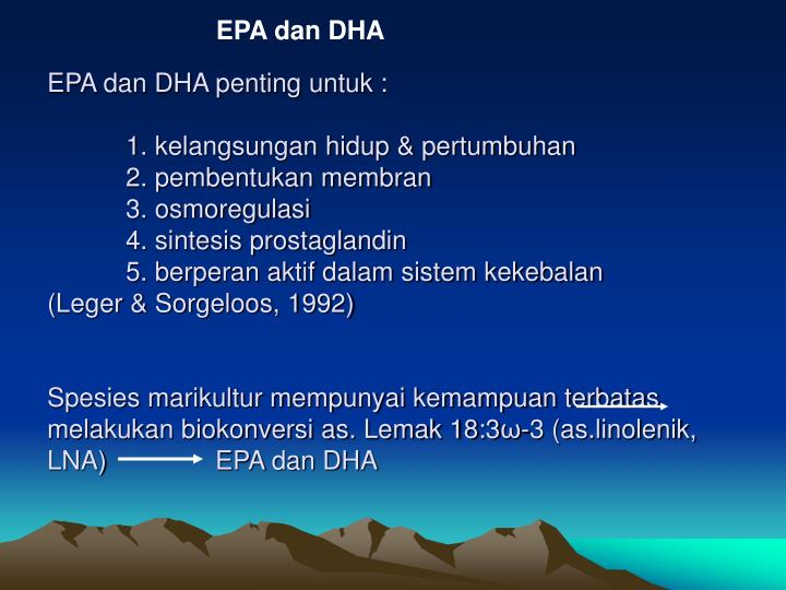 EPA dan DHA