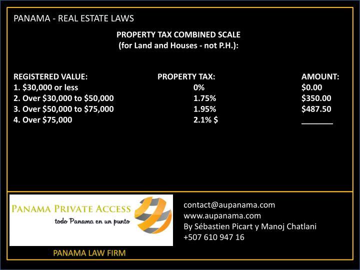 PANAMA - REAL ESTATE LAWS