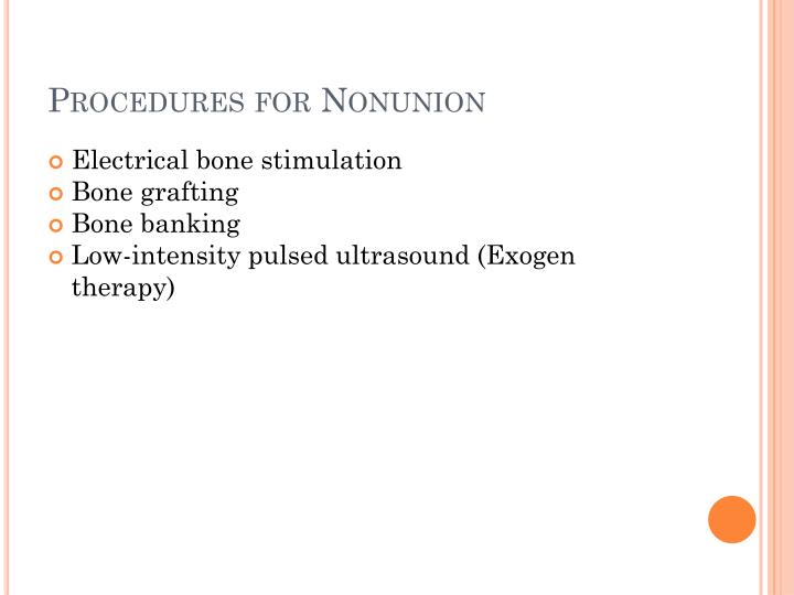 Procedures for Nonunion