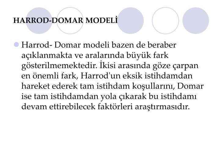assignment on harrod domar growth model Econ 1910 spring 2012 lind / willumsen short solution proposal to the compulsory assignment in econ1910 problem 1: harrod-domar vs - harrod domar essay introduction solow solow in the harrod-domar model a change in the savings rate (s) has a permanent e ect on the growth rate of gdp per capita, while in the solow model a change in the.