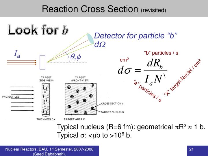 Reaction Cross Section