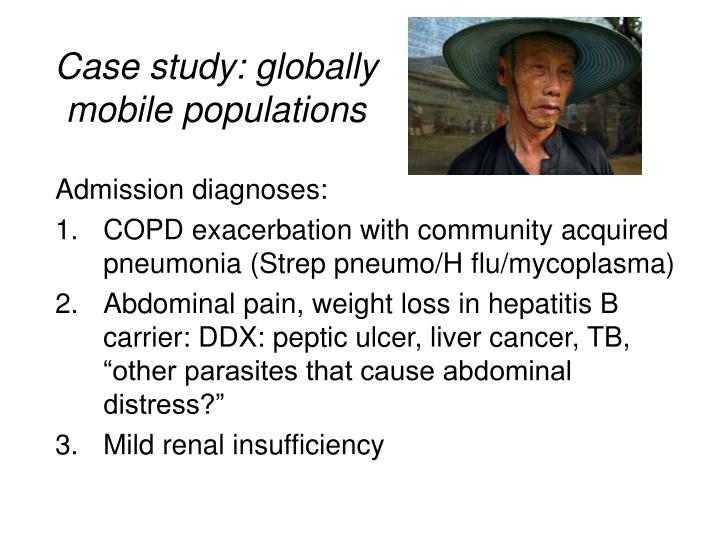 Case study: globally mobile populations