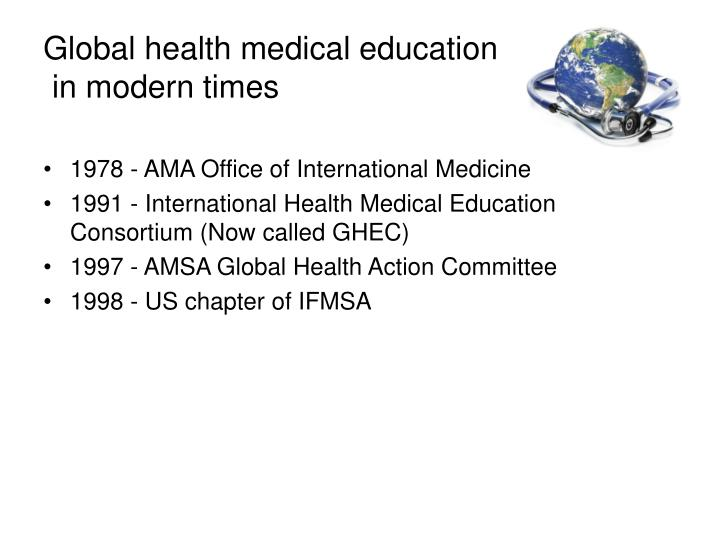 Global health medical education