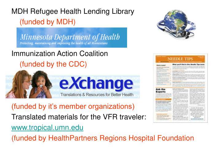 MDH Refugee Health Lending Library