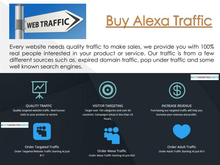 Buy alexa traffic