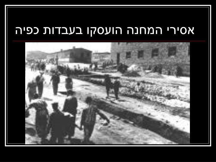אסירי המחנה הועסקו בעבדות כפיה