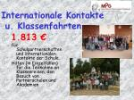 internationale kontakte u klassenfahrten