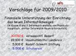 vorschl ge f r 2009 20101