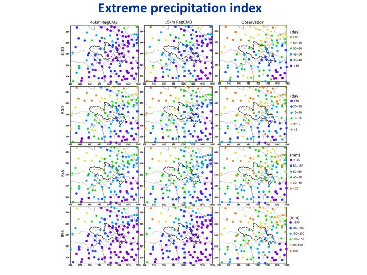 Extreme precipitation index