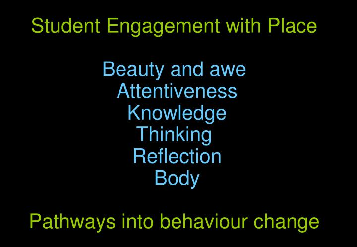 Student Engagement with Place