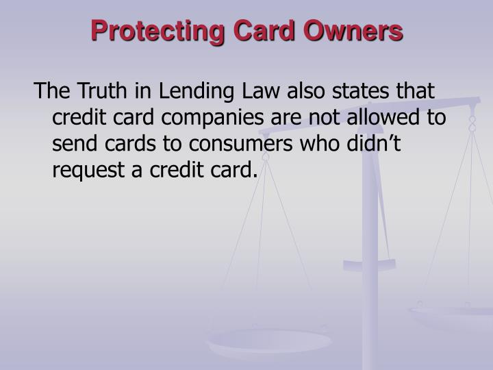 Protecting Card Owners