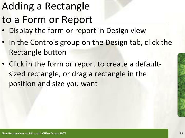 Adding a Rectangle