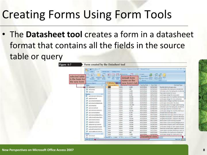 Creating Forms Using Form Tools