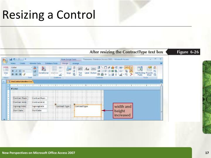 Resizing a Control