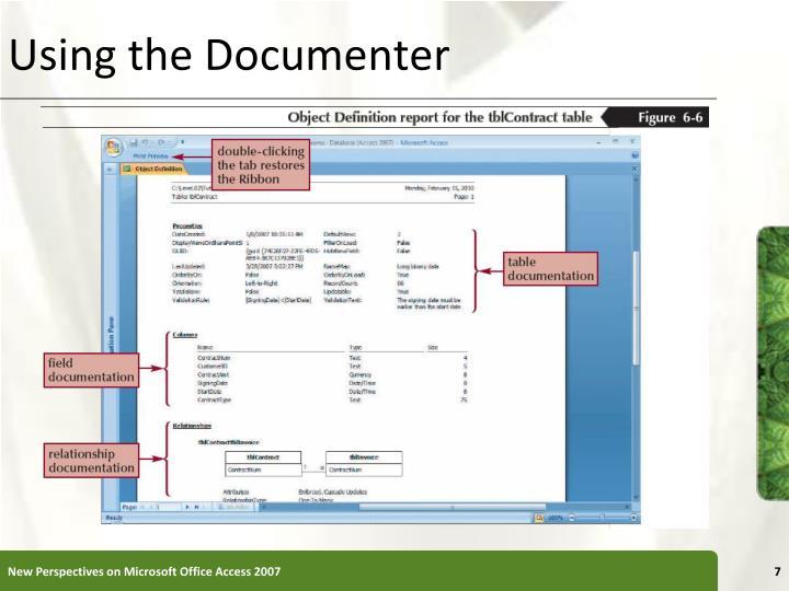 Using the Documenter