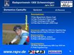 domenico camuffo senioren 25 rennen
