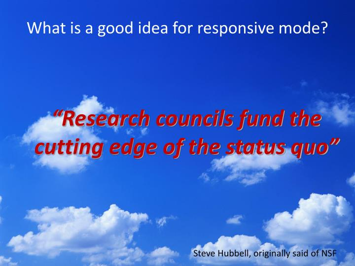 What is a good idea for responsive mode