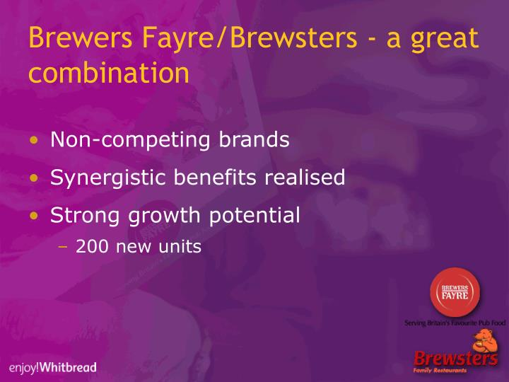 Brewers Fayre/Brewsters - a great combination