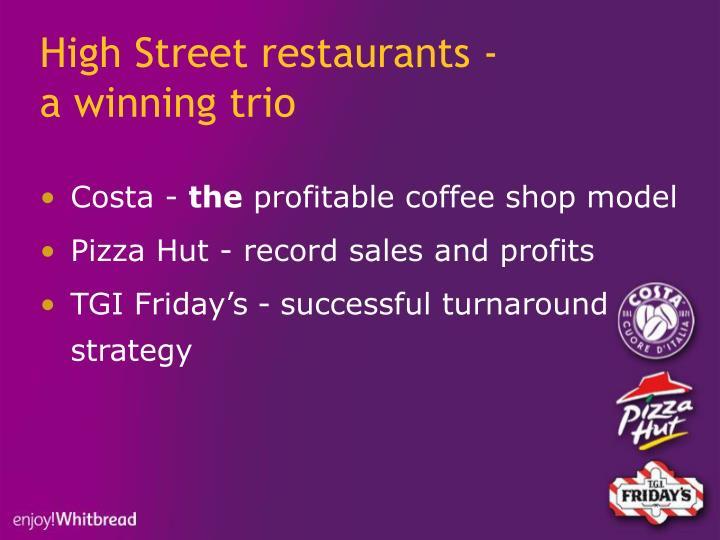 High Street restaurants -