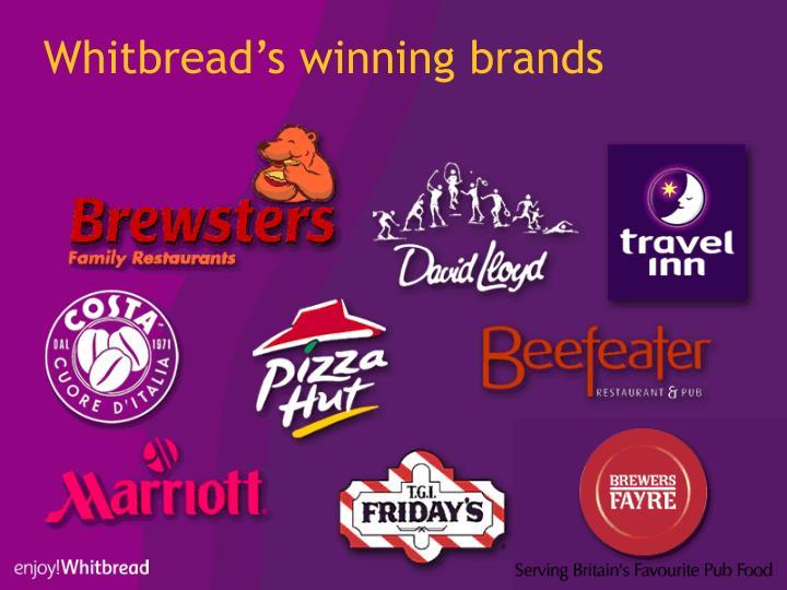 Whitbread's winning brands