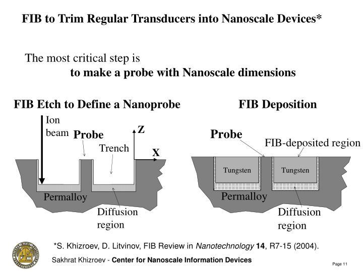 FIB to Trim Regular Transducers into Nanoscale Devices*
