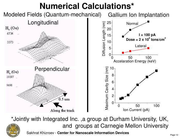 Numerical Calculations*