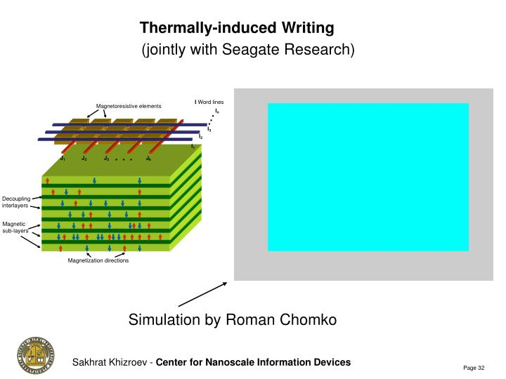 Thermally-induced Writing