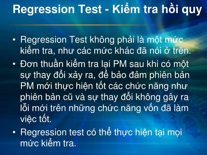 Regression Test -