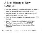 a brief history of new castep