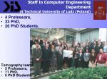 staff in computer engineering department at technical university of lodz poland